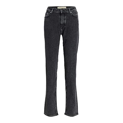 Jack & Jones JJXX JXSEOUL Straight MW CC3004 Noos Jeans, Black Denim, 29/34 aux Femmes