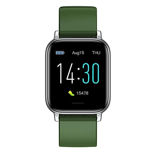 Reloj Deportivo frecuencia cardíaca monitorización de la presión Arterial Saludable Temperatura Corporal escalonamiento Pulsera Inteligente a Prueba de Agua-Verde