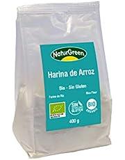NaturGreen Harina de Arroz Bio - Pack de 3 unidades de 400 gr