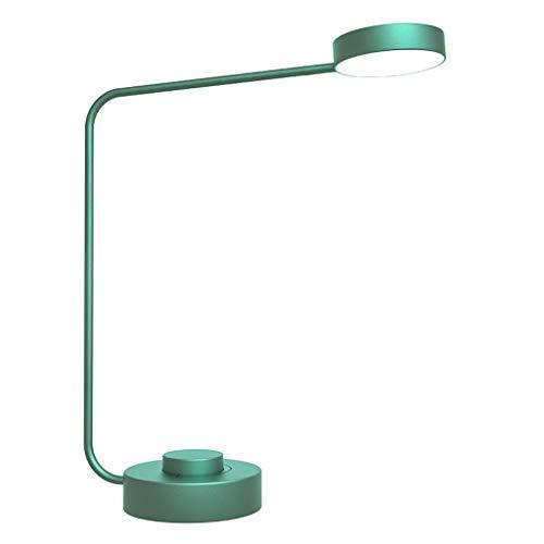Lámpara de Escritorio LED retro Study Desk Trabajo lámpara de escritorio lámpara de lectura lámpara de escritorio sin escalonamiento Atenuación, ajustable temperatura de color, verde Flexo de Escritor