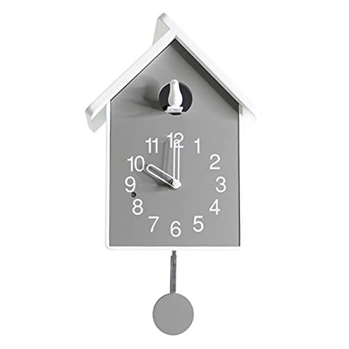 BAIHAO Pequeño Reloj Cucu Design Moderno Reloj Cucú De La Sala De Estar Reloj De Pared Reloj De Cuco Pájaro Decoración del Hogar Exhibición del Tiempo Sonidos De Pájaros Cantores