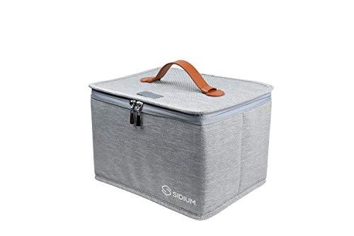 SIDIUM POWER DESINFEKTOR BAG die profi UV-C Sterilisations Box - schnelle Wirkung mit 99,9%, professionelle faltbare Tragetasche für Masken, Schmuck, Lebensmittel, Babyflaschen,Spielzeug uvm.
