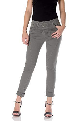 Please, Damen Jeans P78A Baggy, Baggy, Grau L