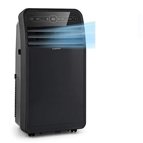 Klarstein Metrobreeze New York Smart - mobile Klimaanlage, 3-in-1: Klimaanlage/Luftentfeuchter/Ventilator, WiFi: App-Steuerung, EEC A, 360 m³/h, bis 59 m², 12000 BTU / 3,5 kW, schwarz