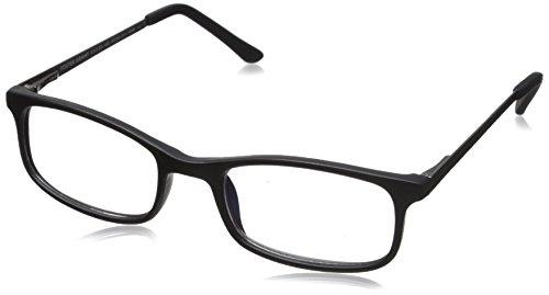 Foster Grant Men's Kramer e.Readers Reading Glasses Rectangular, Matte Black/Transparent, 51 mm + 2.5
