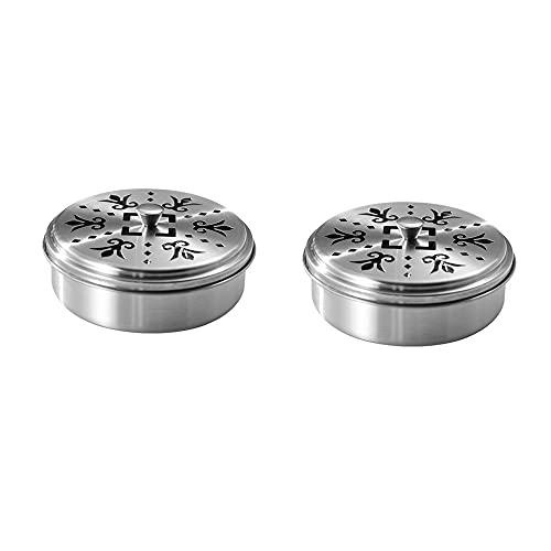 Porta Bobina ,Supporto a Spirale per porta zampirone metallo per zanzare Supporto per incenso Bruciatore di incenso Supporto a Spirale supporti per zanzare portatili in acciaio inox (2 PCS)