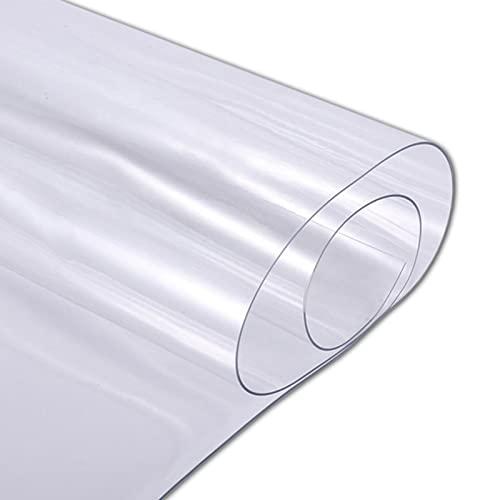 Mantel Transparente Rectangular, Cubierta De Mesa De PláStico, Mantel Impermeable De PVC Limpiable A Prueba De Aceite Para Mesa De Comedor, Escritorio(Color:1.5mm,Size:40x80cm)