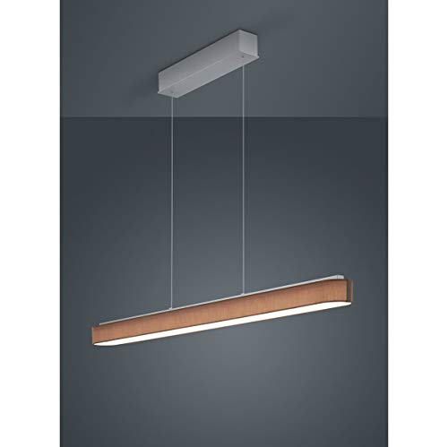 Bora LED Pendelleuchte 120cm, mokka Schirm Chintz Gestell mattnickel eloxiert 2800K 4320lm