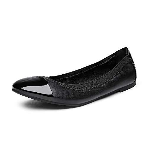 DREAM PAIRS Women's Sole-Flex Black Ballerina Walking Flats Shoes - 10 M US