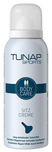 TUNAP SPORTS Sitzcreme mit Panthenol, 150 ml | Gesäß Sport Creme für Fahrrad Fahrer