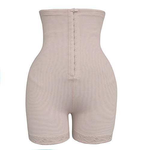 GELing Faja Pantalón Shapewear con Cremallera para Mujer Lenceria Braguita Moldeadora Levanta Gluteos Faja Reductora Abdomen Adelgazantes, Cintura Alta Color de Piel 4XL