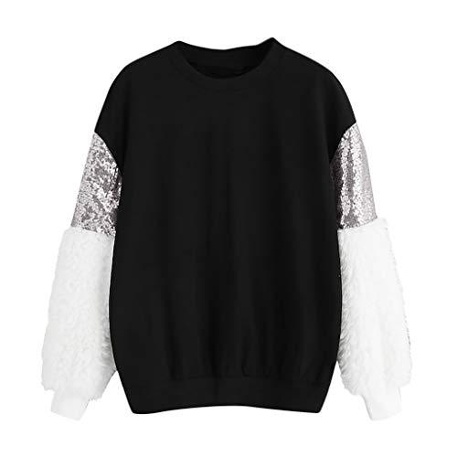 T-Shirt /à Manches Longues pour Les Femmes Chemise Creuse en Dentelle Chemisier irr/égulier LianMengMVP