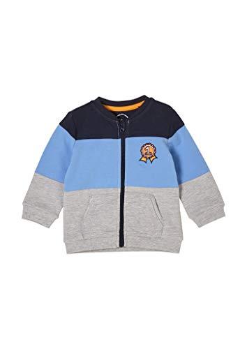 s.Oliver Junior Baby-Jungen 405.10.103.14.150.2060136 Sweatshirt, Grey Melange, 86