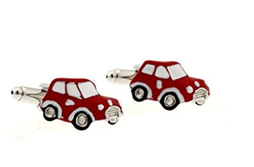 Gudeke Mini Red Car Cufflinks Mini voiture rouge Boutons de manchette