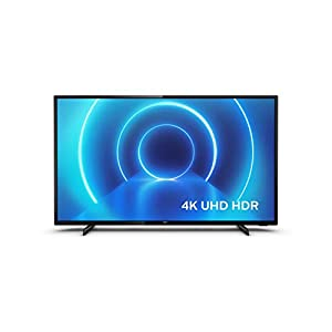 Philips TV (4K UHD TV, P5 Perfect Picture Engine, HDR 10+ Supported, Smart TV, Dolby Vision, Dolby Atmos, 3 x HDMI, 2 x USB) – Glossy Black (2020/2021 Model)