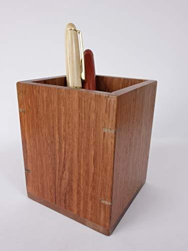 北海道手作り小物 カリン(花梨)材 ペン立て 木製 ペンスタンド ぺんたて