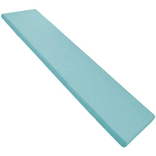 SWD TWTH - Cuscino per panca da giardino, 2/3 posti, per interni ed esterni, 100/120 cm, per panca da pranzo e sedia a dondolo (150 x 30 x 3 cm), colore: blu