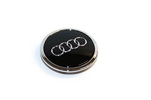 Audi 4B0601170AAX1 Nabenkappe (1 Stück) Zierkappe Radkappe schwarz chrom glänzend