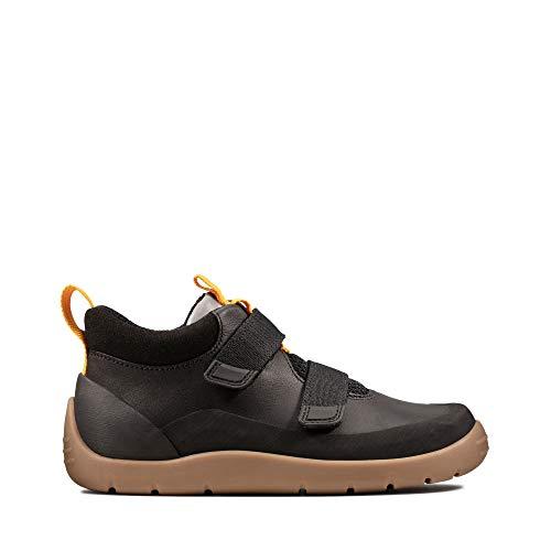 Clarks Jungen Play Hike K Hohe Sneaker, Schwarz (Black Leather Black Leather), 34 EU
