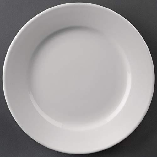 12 X Atena Hotelware szerokie rondowe talerze serwisowe 8 w porcelanowej białej