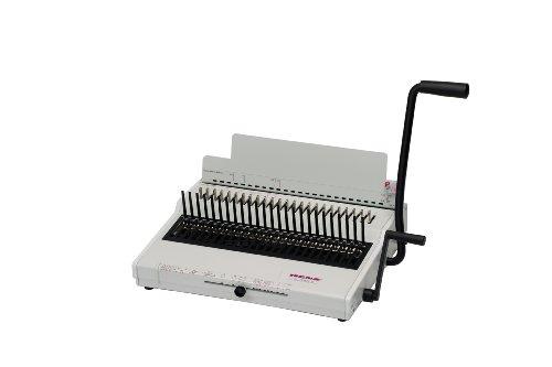 Renz Combi S, Plastikbindesystem in US-Teilung, bis 480 Blatt, variabler Randabstand und Formate bis 34 cm