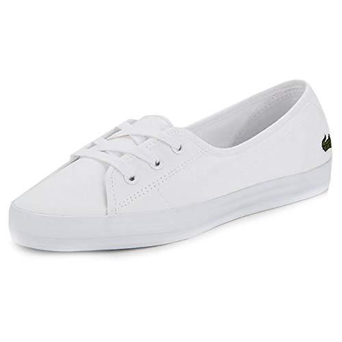 Lacoste Womens Ziane Chunky BL 2 CFA Sneaker, Weiß (White/White), 42 EU