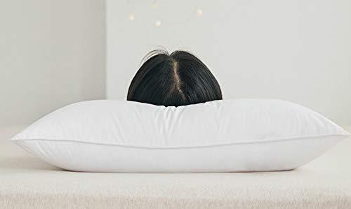 Cuscino, morbido ed elastico, più comodo per dormire, cuscino felpato, sensazione di sonno a cinque stelle, cuscino basso/cuscino medio/cuscino alto (due set)
