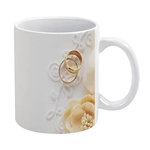 Taza de café divertida de 11 onzas: anillo único de cerámica novedad vacaciones mejores regalos para hombres y mujeres que aman las tazas de té y tazas de café