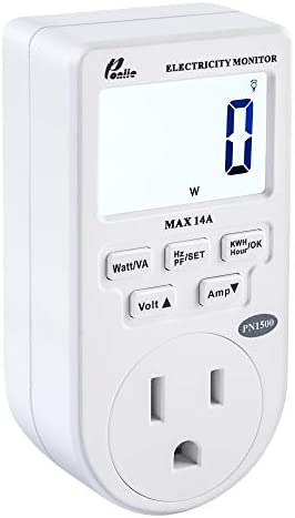 Poniie PN1500 Portable Micro Electricity Usage Monitor Electrical Power Consumption Watt Meter product image