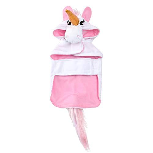 POPETPOP Disfraz de Perro Unicornio: Capa de Unicornio Cachorro con Capucha, Diadema de Unicornio para Perro con Cola Disfraz de Halloween para Mascotas para Perros, Talla M