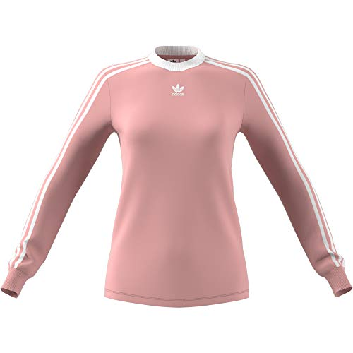 adidas Damen 3-Stripes Longsleeve, Pink Spirit, 38
