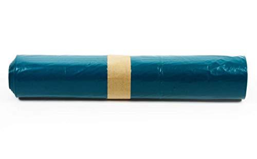 Funny Sacs Poubelle en PEBD régénéré Type 60 extra (Bleu roulé 140 l) Lot de 250 sacs