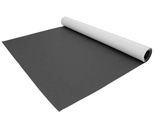 PVC Bodenbelag EXPOTOP Vinyl - Anthrazit MUSTER Uni CV-Boden Meterware, Reflektiert Nicht, Schwer Entflammbar