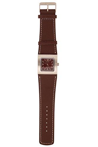 Auriol® Damen Armbanduhr - Edelstahlgehäuse mit hochwertigem Lederarmband