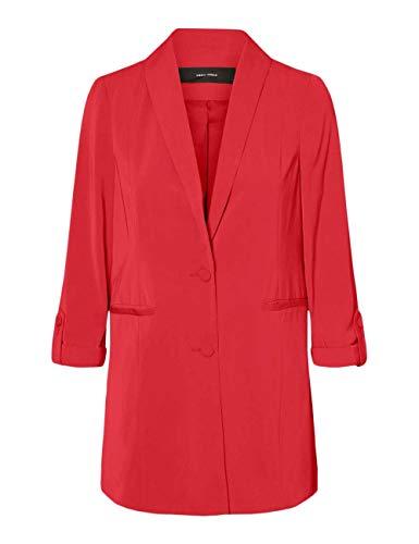VERO MODA rode dames blazer rode stof 10223035-GOJIBERRY