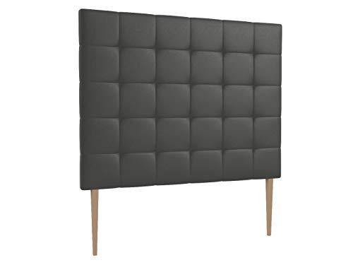 LA WEB DEL COLCHON - Cabecero tapizado Corfú Big para Cama de 150 (160 x 165 cms) Gris Ceniza | Cama Juvenil | Cama Matrimonio | Cabezal Cama |