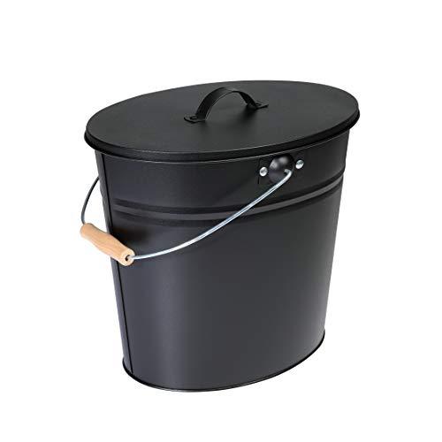 Kamino Flam 333252 Ascheeimer Für Kamin, Kohleneimer 24 Liter Mit Deckel Und Tragegriff Für Kohle Und Asche, Kamin, Ofen, Grill