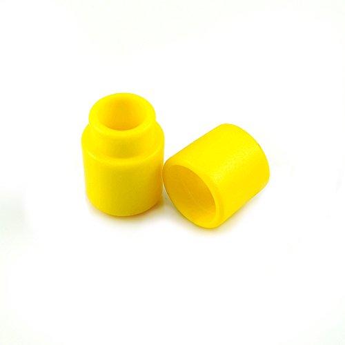 20er SET Verbinder / Kordelverbinder,rund, zum verknüpfen von Paracord 550, aus Kunststoff für Paracord Armbänder, Kordeln etc., 2-teilig, Farbe: gelb - Marke Ganzoo