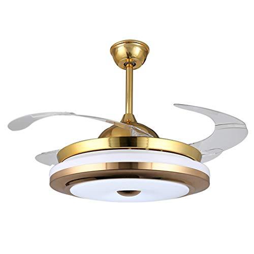 Deckenventilatoren mit Beleuchtung 42 Zoll hochwertige moderne unsichtbare Lüfter Lichter Acryl Blatt führte Deckenventilatoren drahtlose Steuerung Deckenventilator Licht Deckenventilatoren mit Beleuc