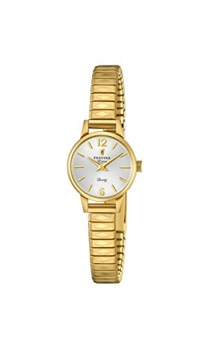 Festina Damen Analog Quarz Uhr mit Edelstahl Armband F20263/1
