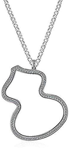 Yiffshunl Collar Collar Elegante de Moda para Mujer Temperamento y suéter de Calabaza Grande Hueco Collares Largos