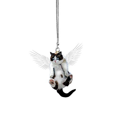 Brawdress Cute Cat Dog Car Hanging Ornament Rear View Mirror Car Styling Interior Accessories for Car Decoration Lovely Kitten/Puppy Animal Pendants Car Interior Accessories Gift for Men Women