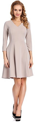Merry Style Damen Kleid T3L1M3N4 (Cappuccino, M)