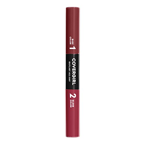 COVERGIRL Outlast All-Day Color & Lip Gloss, Precious Ruby, 0.2 Ounce (packaging may vary)
