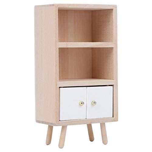 Jeanoko Gabinete de madera de la casa de la muñeca de la protección del medio ambiente decoración de la casa para la decoración de la casa de muñecas para los amantes de