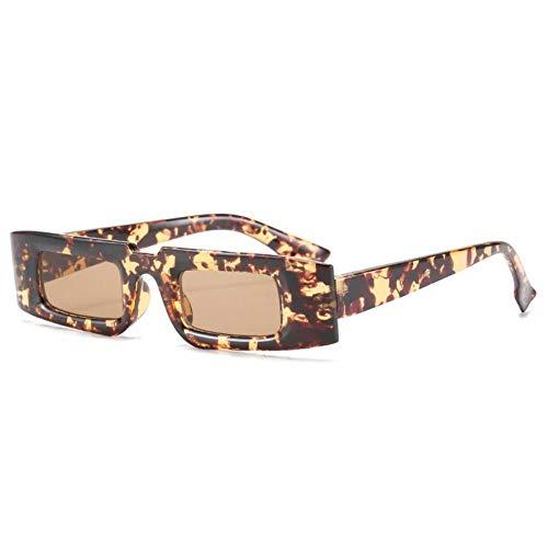 ZZOW Gafas De Sol Rectangulares Pequeñas Vintage para Mujer, Gafas Coloridas A La Moda para Hombre, Gafas De Sol De Champán De Tendencia, Sombras Uv400