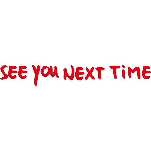 GreenIT Aufkleber Tattoo 30cm See You Next Time Schriftzug Depeche Mode Fahrzeug Auto Deko Folie (rot)