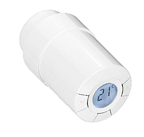 POPP POPE010101 Heizkörperthermostat, Weiß