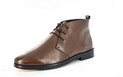 Botines de piel para hombre, color marrón