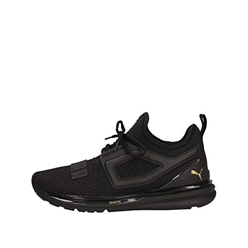 Puma - Ignite Limitless 2 Jr, Zapatillas Unisex Niños, Negro (Puma Black-Metallic Gold 5), 37.5 EU